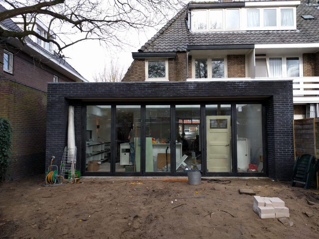 Verbouwing jaren 30 woning Haarlem in volle gang.